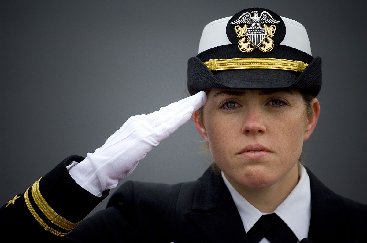 Image result for FEMALE ARMY CAPTAIN SALUTING HER CO