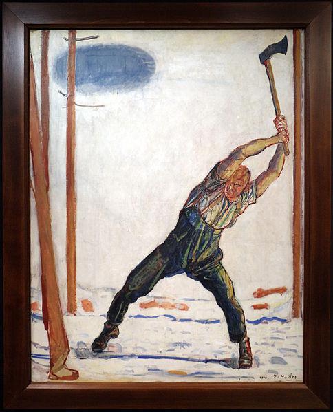 File:Ferdinand hodler, il boscaiolo, 1910, 01.JPG