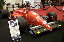 Photo de la Ferrari F1-87 de Berger en exposition à Eessex