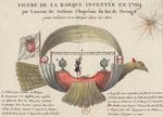 Figure de la Barque inventée en 1709 par Laurent de Gusman, Chapelain du Roi de Portugal, pour s'élever et se diriger dans les Airs - Bibliothèque nationale de France.png