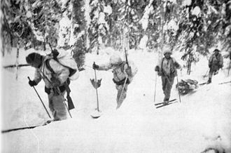 Long-range reconnaissance patrol - A Finnish long-range ski patrol during the Continuation War.