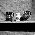 Firkl, vazica, majolka. Izdelal Zupančič Leopold, lončar, Vrh 18 1952.jpg