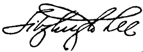 Fitzhugh Lee's signature