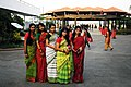 Five Bangladeshi women wearing traditional sari (01).jpg