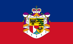 Standard of the Government of Liechtenstein.Proportions: 3:5
