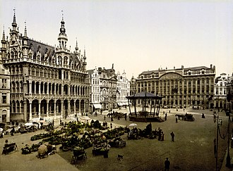 Grand Place - Image: Flickr …trialsanderrors La Grand Place, Brussels, Belgium, ca. 1895