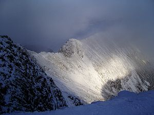 Charles Gough (artist) - Striding Edge is a sharp arête providing an adventurous route up Helvellyn.
