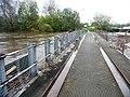 Flooded River Calder at the Trash Screen Bridge, Stanley Ferry (geograph 4740035).jpg