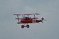 Fokker Dr.I Manfred Richthofen Pass two 11 Dawn Patrol NMUSAF 26Sept09 (14413333079).jpg