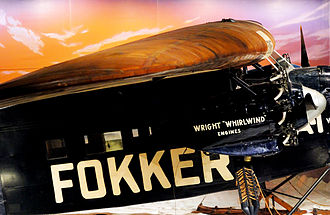 "Richard E. Byrd - The Fokker FVIIa/3M – ""Josephine Ford"", on display at The Henry Ford Museum"