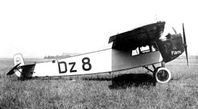 Image illustrative de l'article Fokker F.III