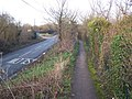 Footpath alongside Bull Lane - geograph.org.uk - 1146150.jpg