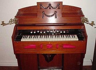 Electric organ - A harmonium.