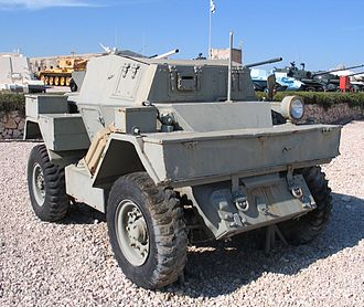 Daimler Dingo - Ford Lynx Mk I scout car in the Yad La-Shiryon Museum, Israel