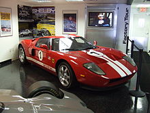 The First Ford Gt Prototype Workhorse  At The Shelby American Museum Las Vegas Nevada
