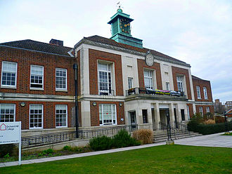 Municipal Borough of Beddington and Wallington - Wallington Old Town Hall, seat of the district council from 1934 until 1965, and now used as a college