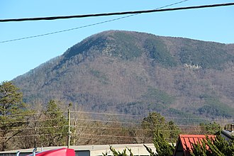 Fort Mountain (Murray County, Georgia) - Fort Mountain, viewed from Chatsworth
