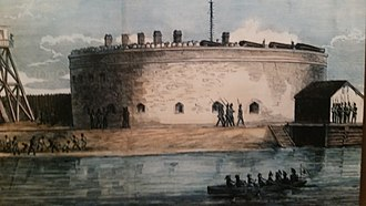 Castle Pinckney - Fort Sumter National Monument marker for Castle Pinckney