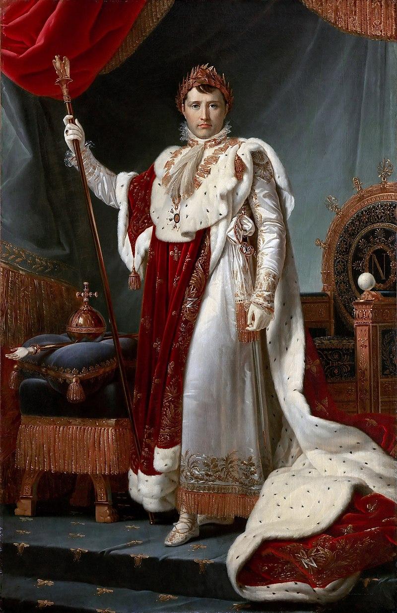 Франсуа Жерар - Наполеон I на коронации Robes.jpeg