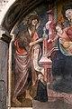 Francesco zacchi detto il balletta, madonna in trono col bambino, il battista e una committente, sangue di cristo dell'eucarestia, xv secolo 02.jpg