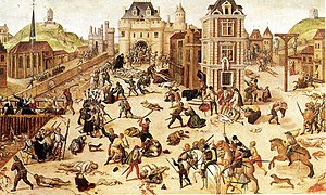 Religious violence - The St. Bartholomew's Day massacre of French Protestants in 1572