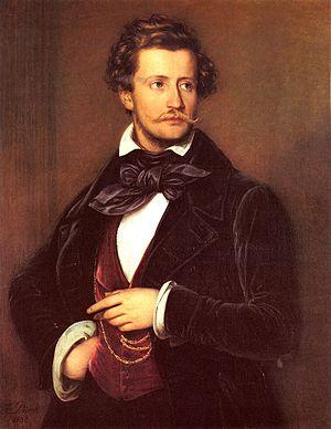 Franz Hanfstaengl - 1832 Portrait of Franz Hanfstaengl (1804-1877) by Friedrich Dürck.