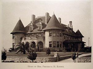Frederick Hastings Rindge House - Image: Frederick Rindge House 1910