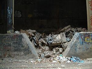 Freedom Tunnel - Demolished shantytowns