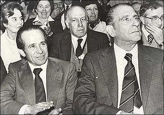 Andrés Zaldívar - Zaldívar and Eduardo Frei Montalva campaigning for No in the 1980 plebiscite