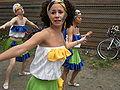 Fremont Solstice Parade 2008 - dancers rehearsing 05.jpg