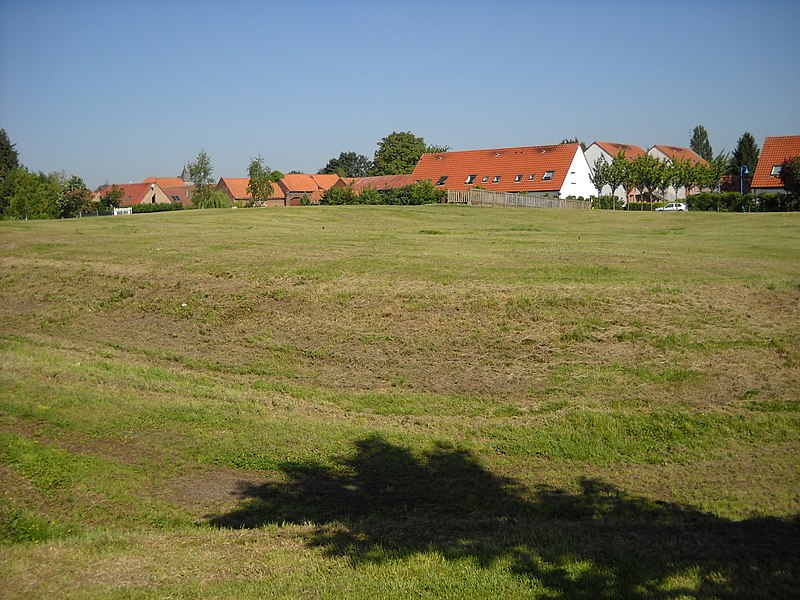 The medieval mound of Fretin, Nord, France.