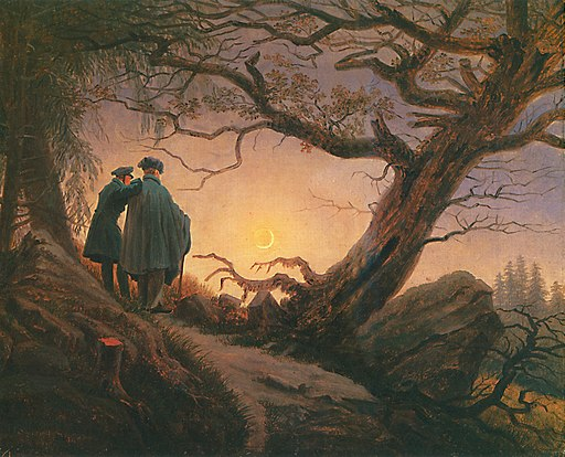 Friedrich-CF 2maenner-in-betrachtung-des-mondes