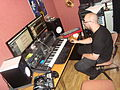 Friend's home studio - Making that hit track (by David J).jpg