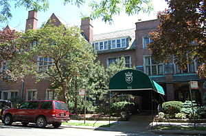 Quadrangle Club (University of Chicago) - Entrance to the Quadrange Club, on the campus of the University of Chicago