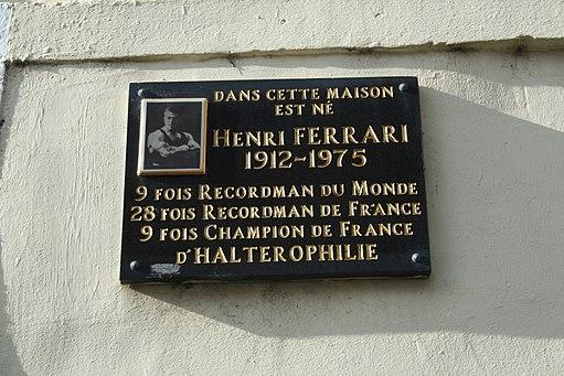 Frontignan plaque Ferrari