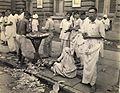Fruit vendor in Calcutta in 1945.jpg