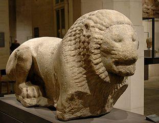 Funerary lion