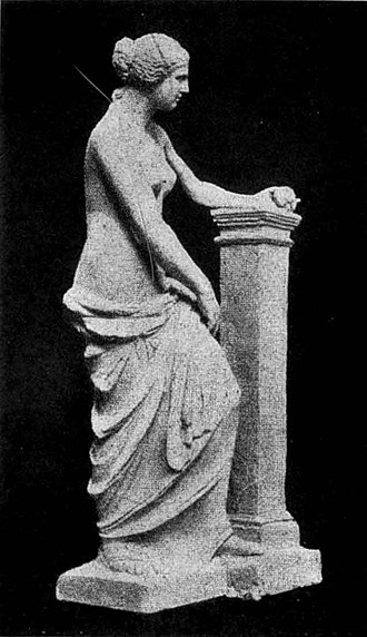 Venus de Milo - A restoration proposal by Adolf Furtwängler showing how the statue may have originally looked