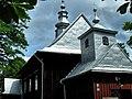GÓRZANKA.Grekokatolicka cerkiew św. Paraskewy, obecnie rzymskokatolicki Kościół pw Wniebowstąpienia Pana Jezusa, widok formy dachowej.jpg