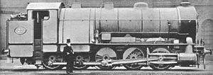 GER Class A55 - James Holden stands in front of his locomotive.