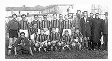 Foto di gruppo della squadra del G.S. Erminio Giana nel 1939.
