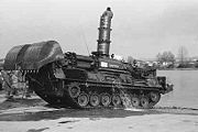 Gepanzerte Pioniermaschine fitted with the same snorkel as used on the Leopard 2 tank
