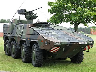 Armoured personnel carrier - The GTK Boxer of the German Army is a modern APC, ordered by multiple countries