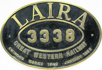 Laira Traction & Rolling Stock Maintenance Depot - The original nameplate of Bulldog Class Laira