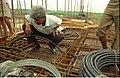 G Nagarajan Inspecting Conduit Lay - Seminar Halls Ground Floor Roof - Convention Centre Complex - Science City - Calcutta 1994 393.JPG