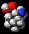 Gabapentin molecule spacefill.png
