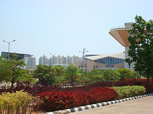 2003 Afro-Asian Games - A view of Gachibowli, the Hyderabadean suburb which hosted the Games