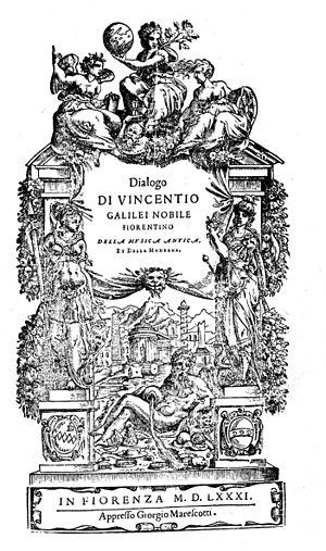 Vincenzo Galilei - Della musica antica et della moderna, 1581