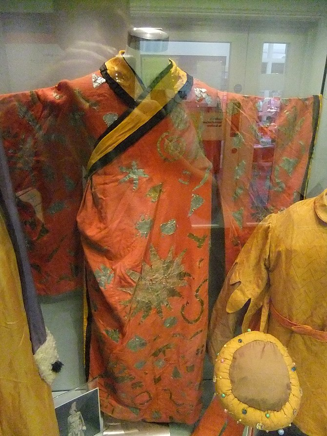 Various garments at Ludlow Museum, Castle Stre...