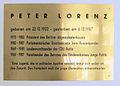 Gedenktafel Steifensandstr 8 (Charl) Peter Lorenz.jpg